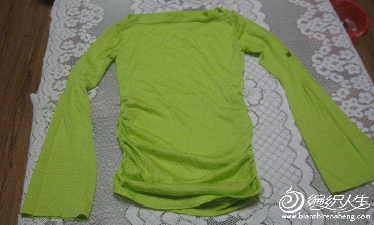 草绿色全毛薄款喇叭袖一字领针织衫.jpg