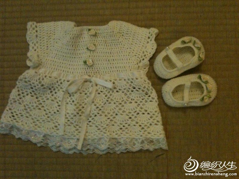 婴儿三件套--小礼服裙和公主鞋.JPG