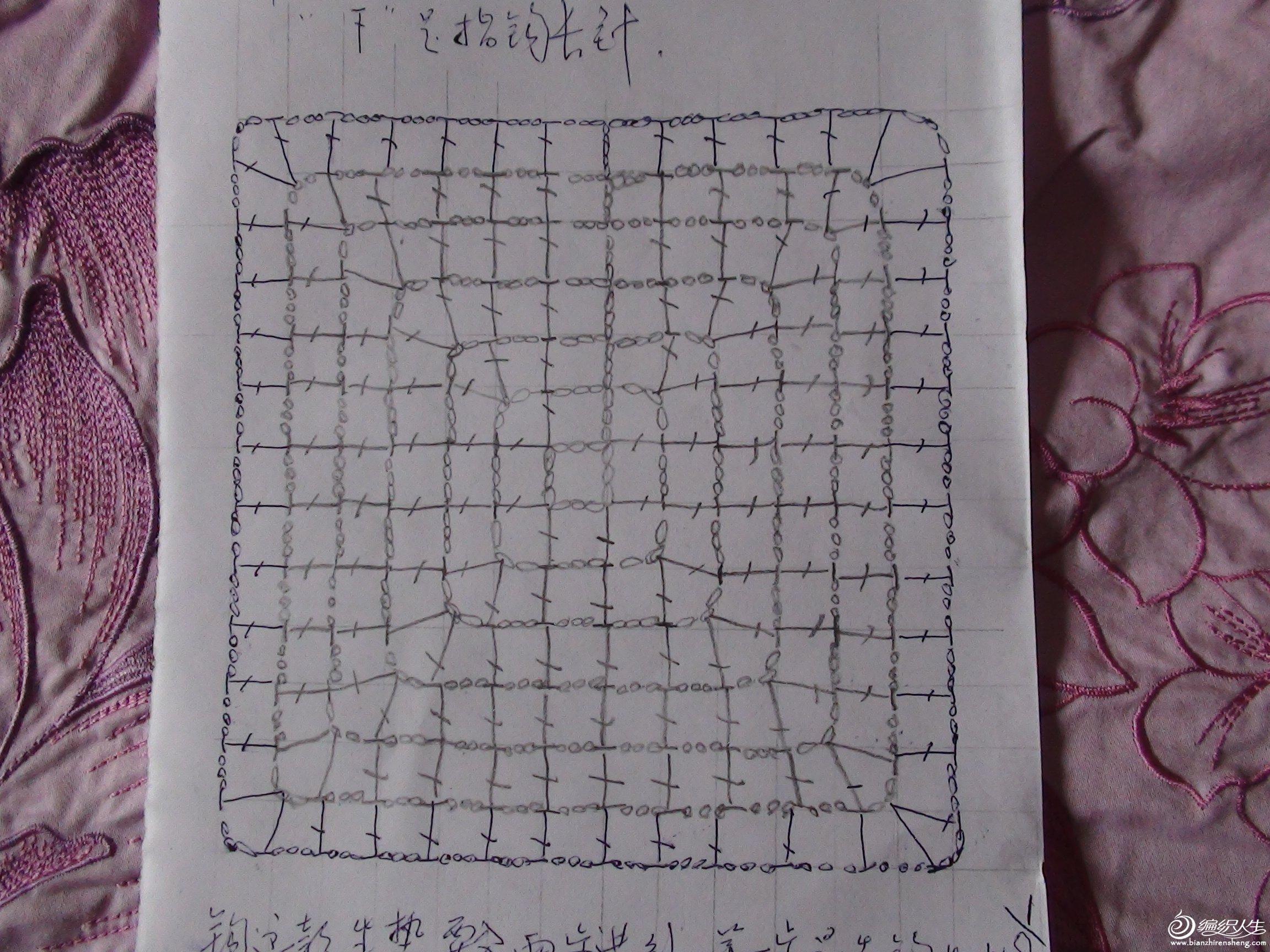 蜘蛛网钩织图