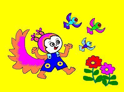 高馥娥老师儿童实用美术电脑绘画集锦(松鼠)