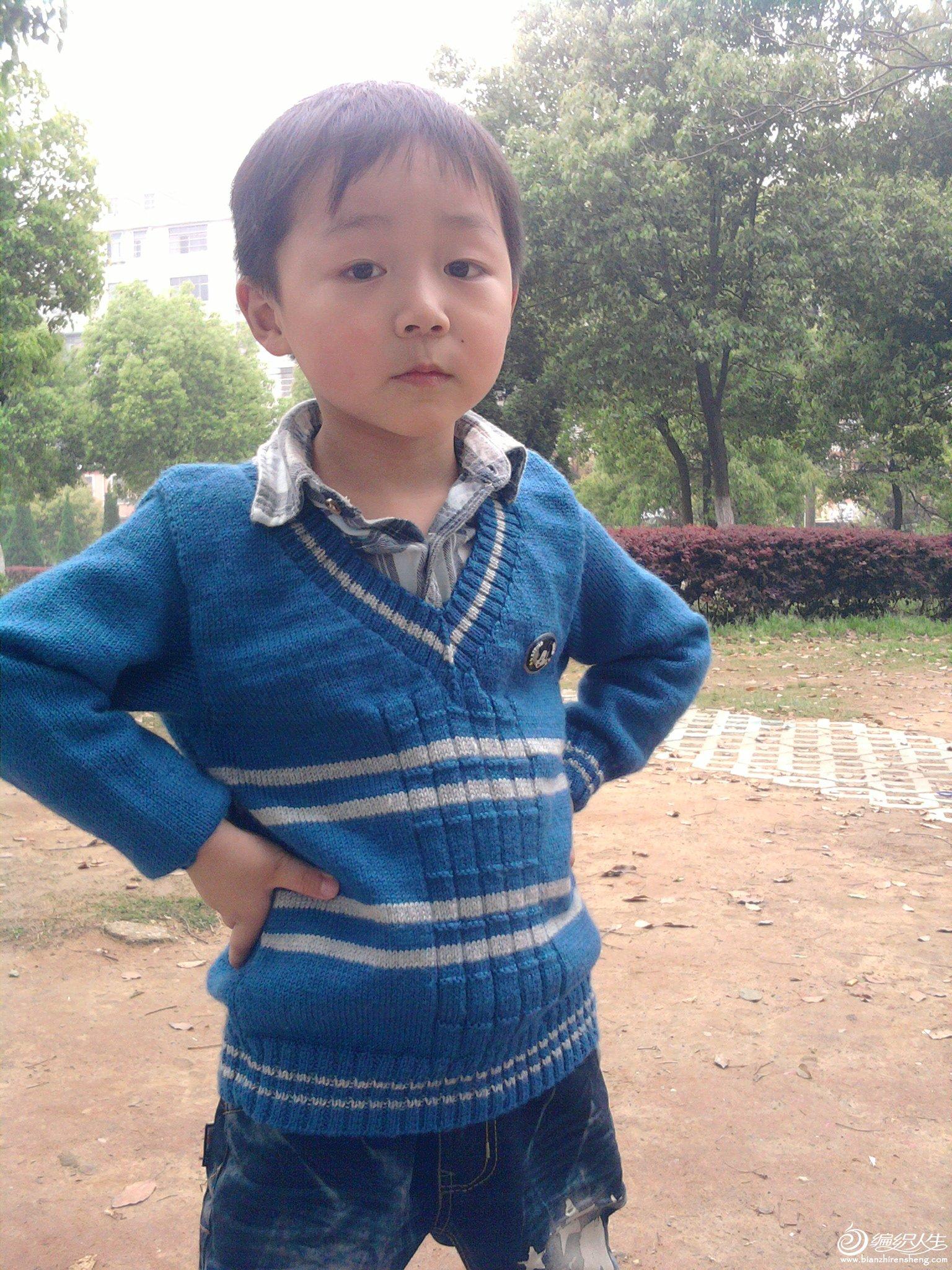 儿子的帅气毛衣
