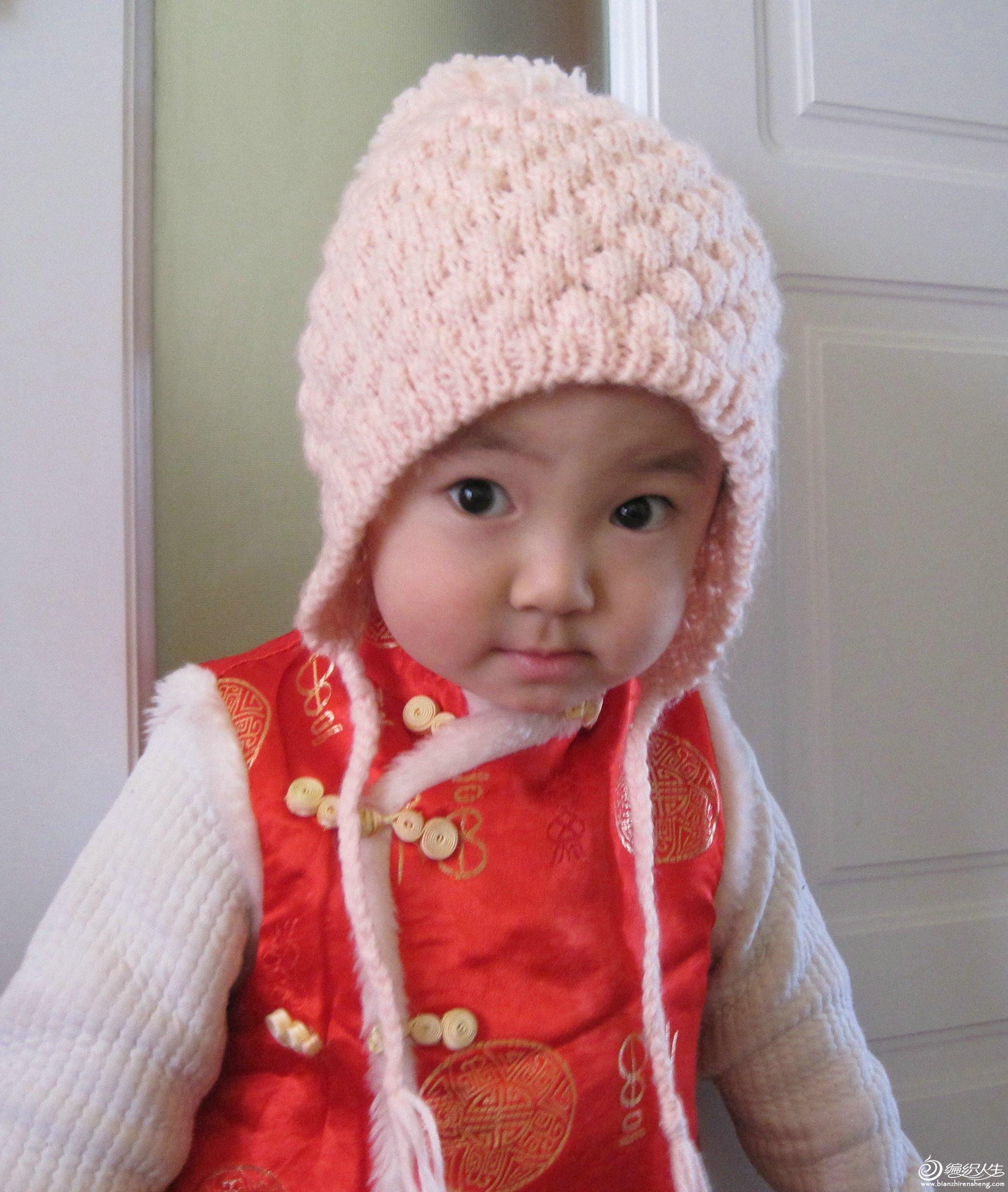 补发几张宝贝照(帽子是去年冬天织的)