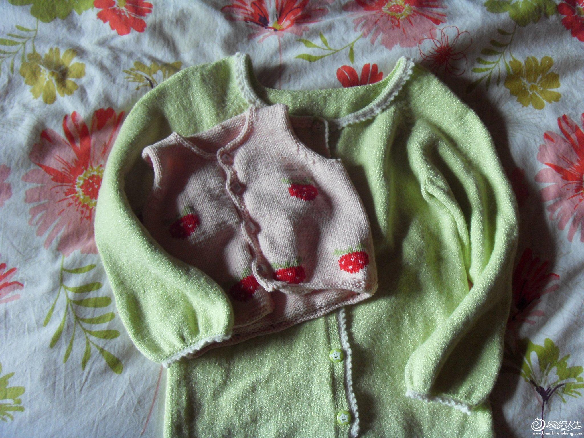 2个孩子的衣服,呵呵,一个7岁,一个刚满月