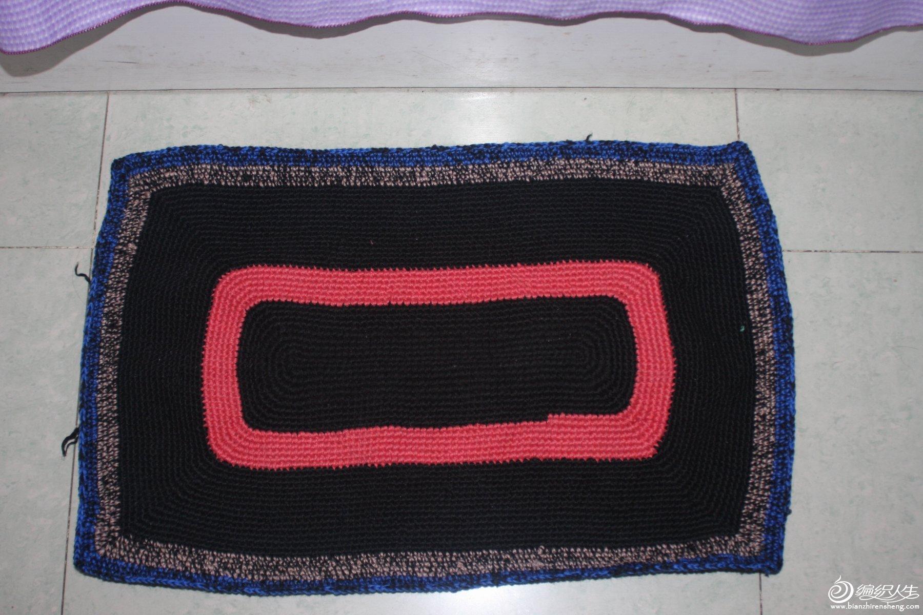 旧毛线地垫