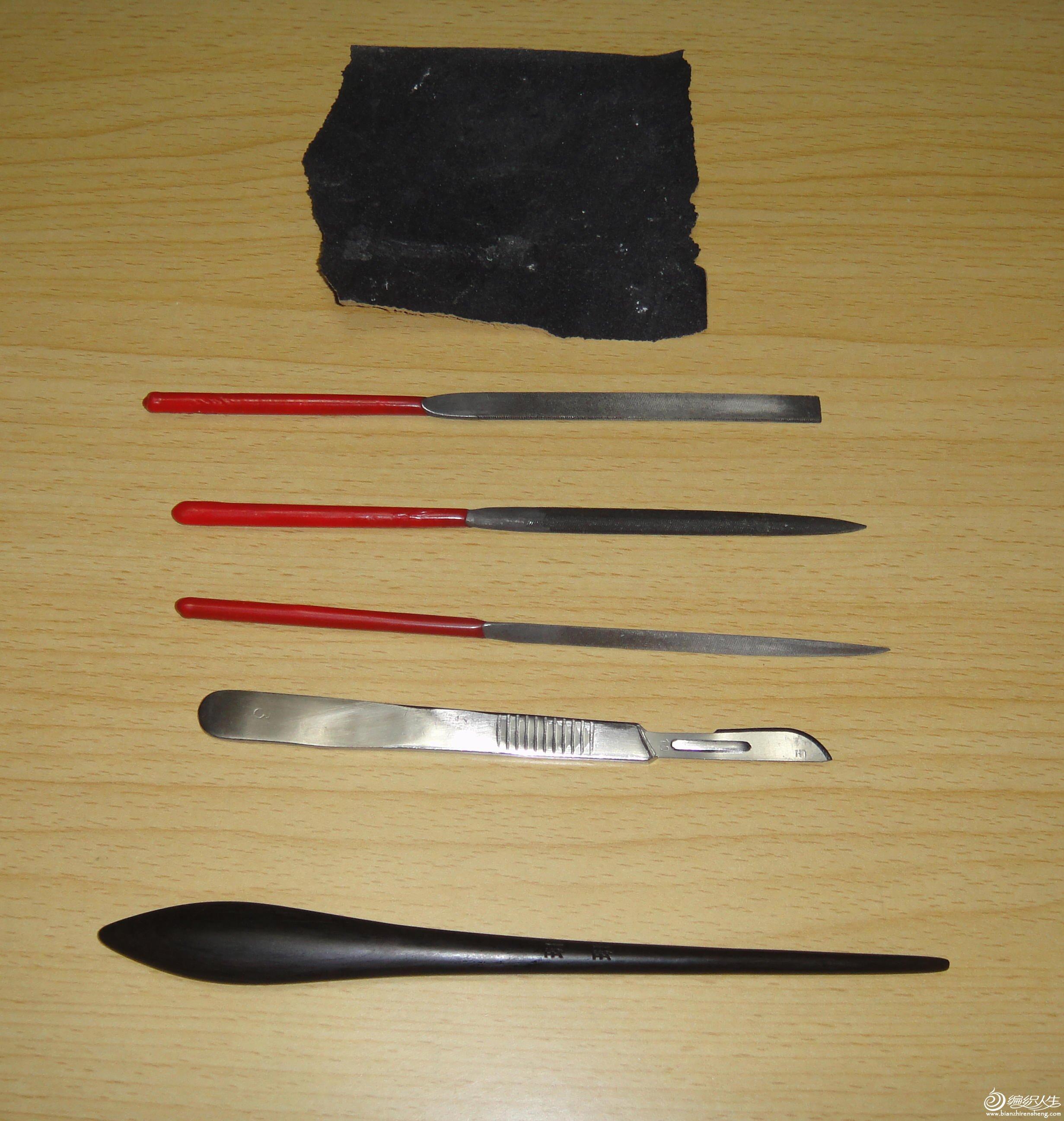黑檀木自制的钩针