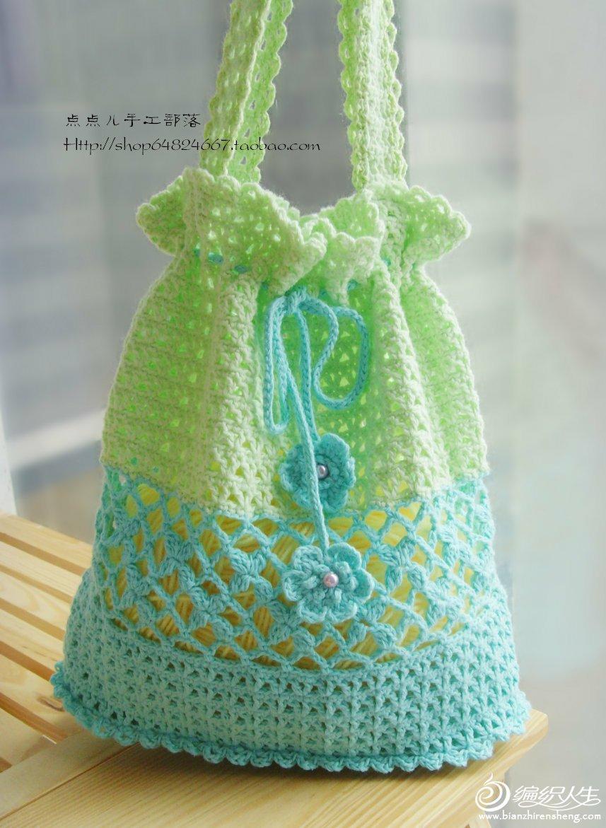 漂亮包包,请教织法 谢谢
