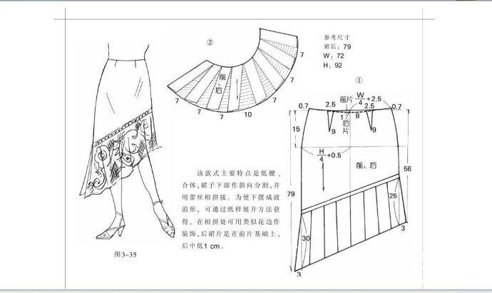 服装裁剪 半身裙裁剪图