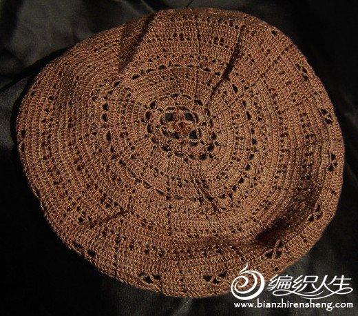 棉麻珠子帽