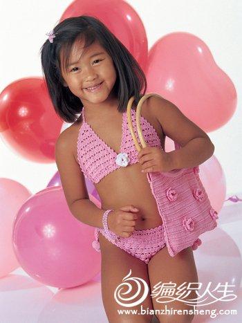 LH176_0602 Розовый купальник и сумочка(粉红色比基尼和手.jpg