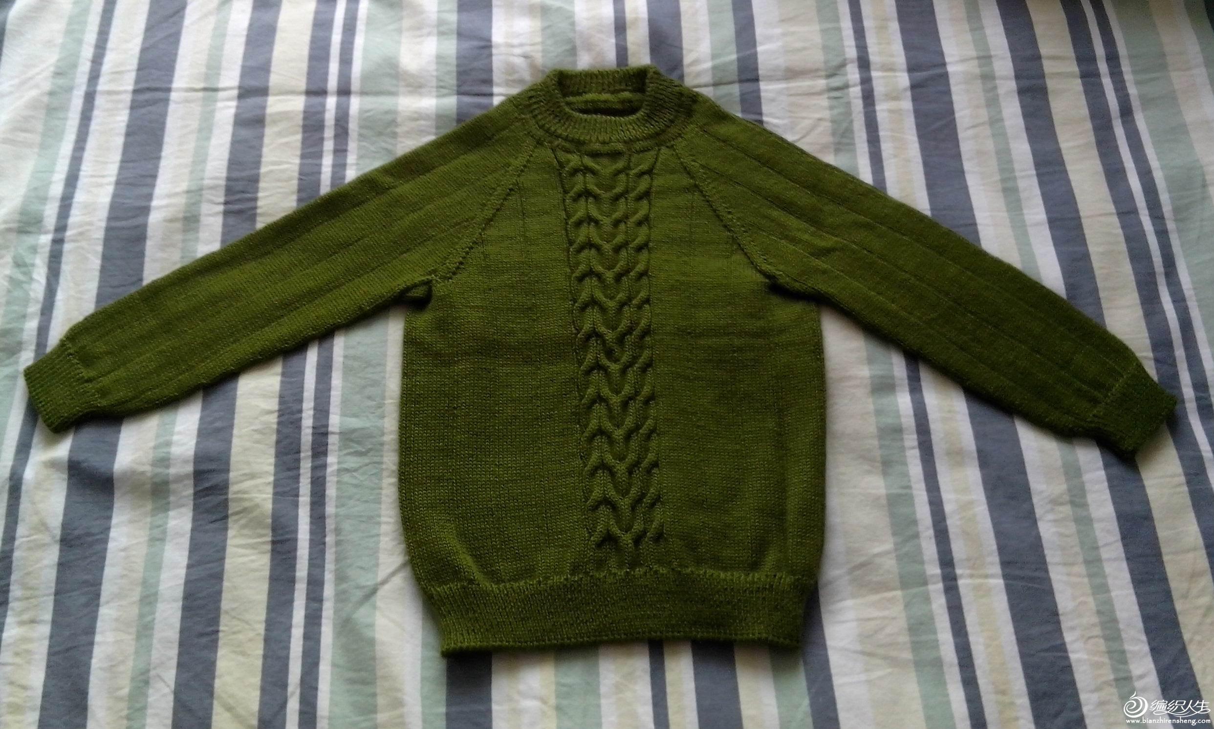 给儿子织的毛衣