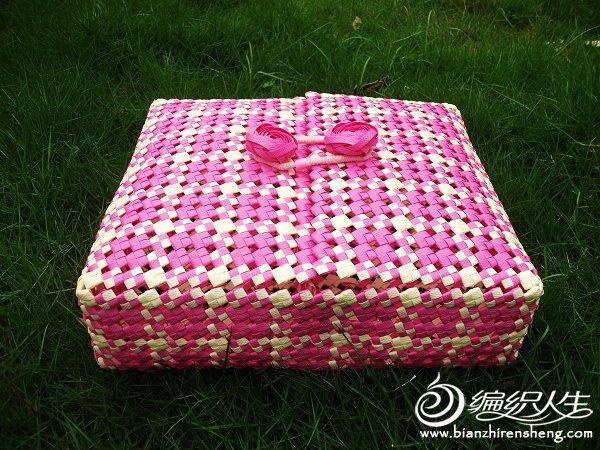 紫米格子双盖分隔收纳盒.JPG