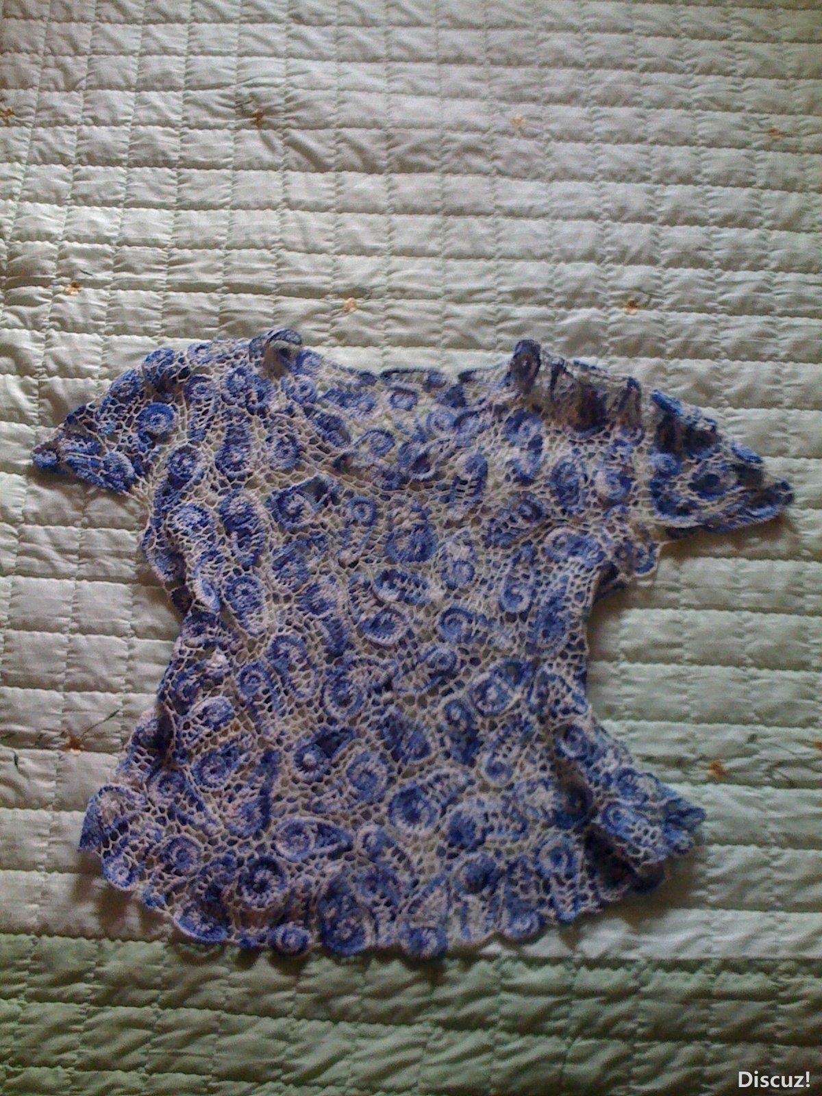 仿的青花瓷,考虑夏天穿中式领太热。改成鸡心领
