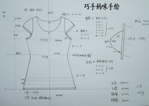 蕾丝服装设计手绘图