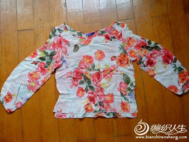 真丝花朵衫,8新,均码,25元
