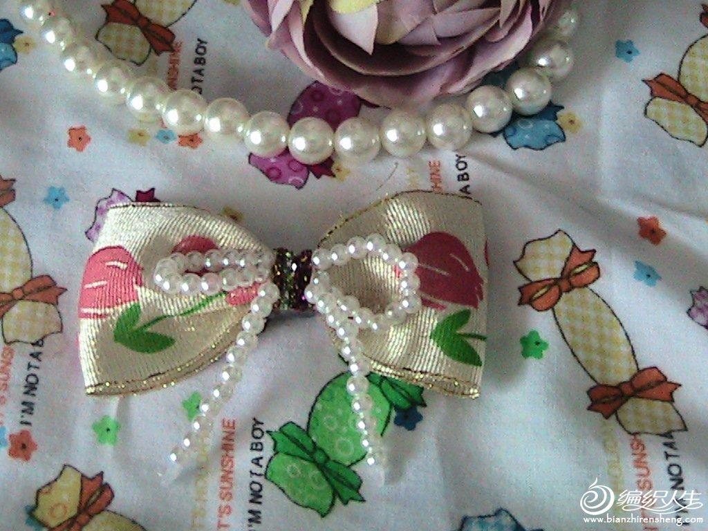 珍珠花朵蝴蝶结