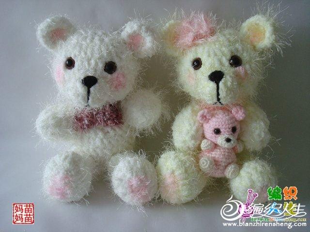 两只小熊是以前用很粗的围巾线钩的 那时候热播韩剧浪漫满屋