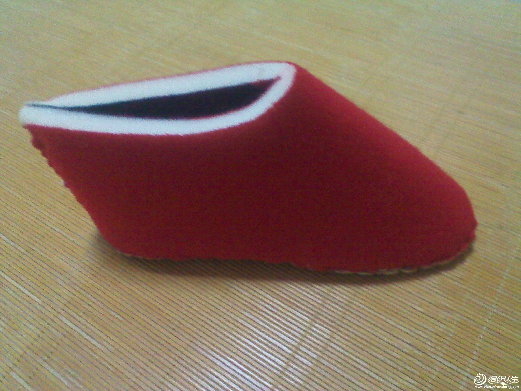 缝合好的海绵鞋底