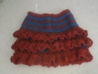 用零头线钩织的蛋糕裙
