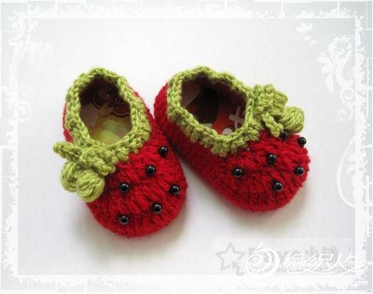 红草莓宝宝鞋