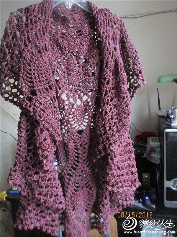 一股紫色棉线,一股金丝棉