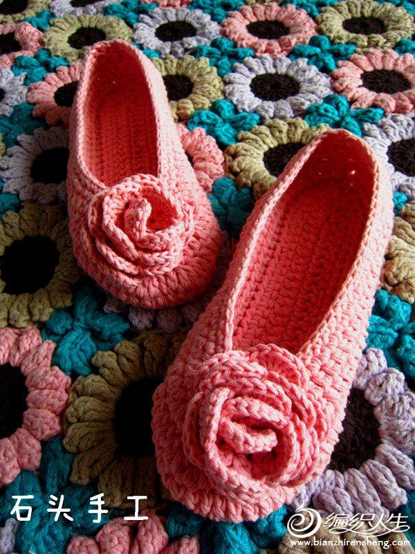 【石头手工】森女必备~~~~~玫瑰花地板鞋