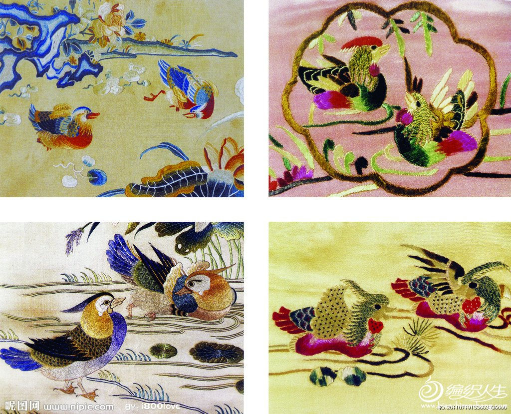 精美的传统刺绣图样