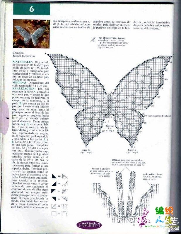 蝴蝶抱枕图解2