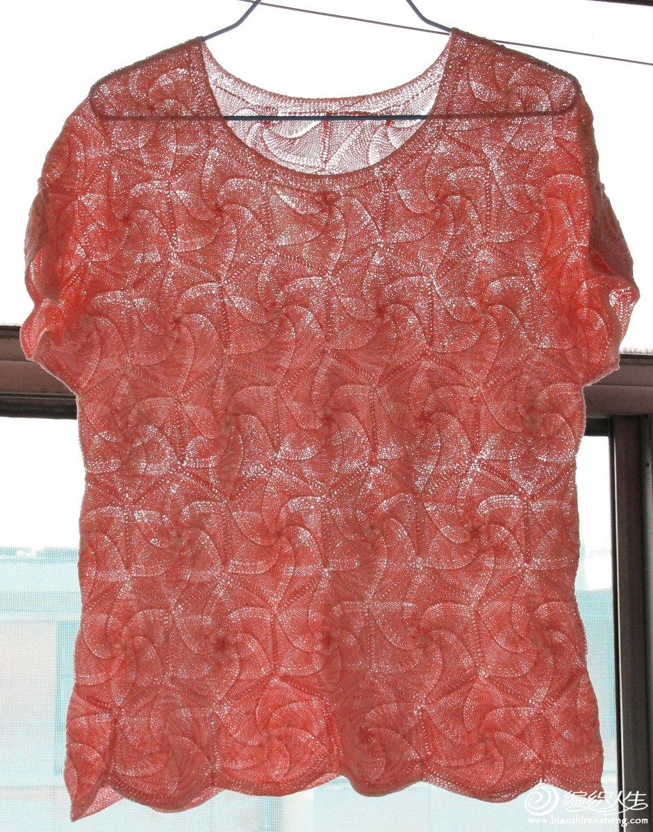 003-浅西瓜红段染亚麻连肩半袖-改良版的螺旋玫瑰-小.JPG