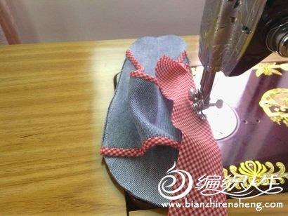 其它手工作品及教程 69 旧牛仔裤改拖鞋,过程图解,超详细    从鞋子