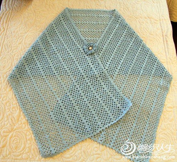 这款披肩是我为了配我的旗袍钩的