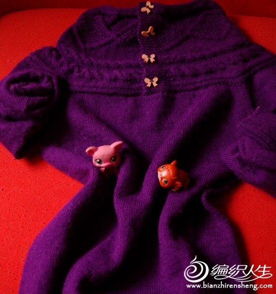 紫色驼毛毛衫