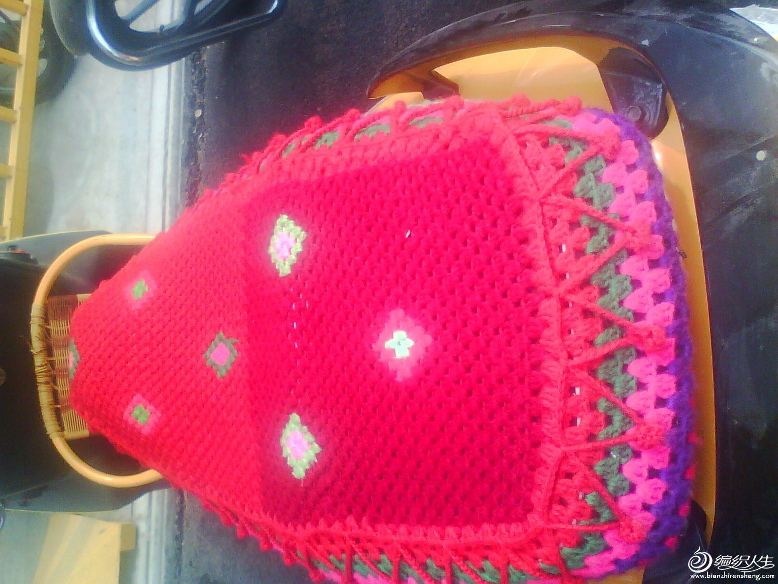 串珠坐垫编织图解