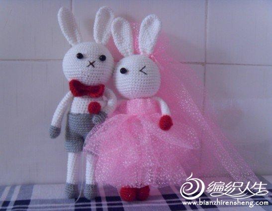 婚礼玩偶卡通兔子