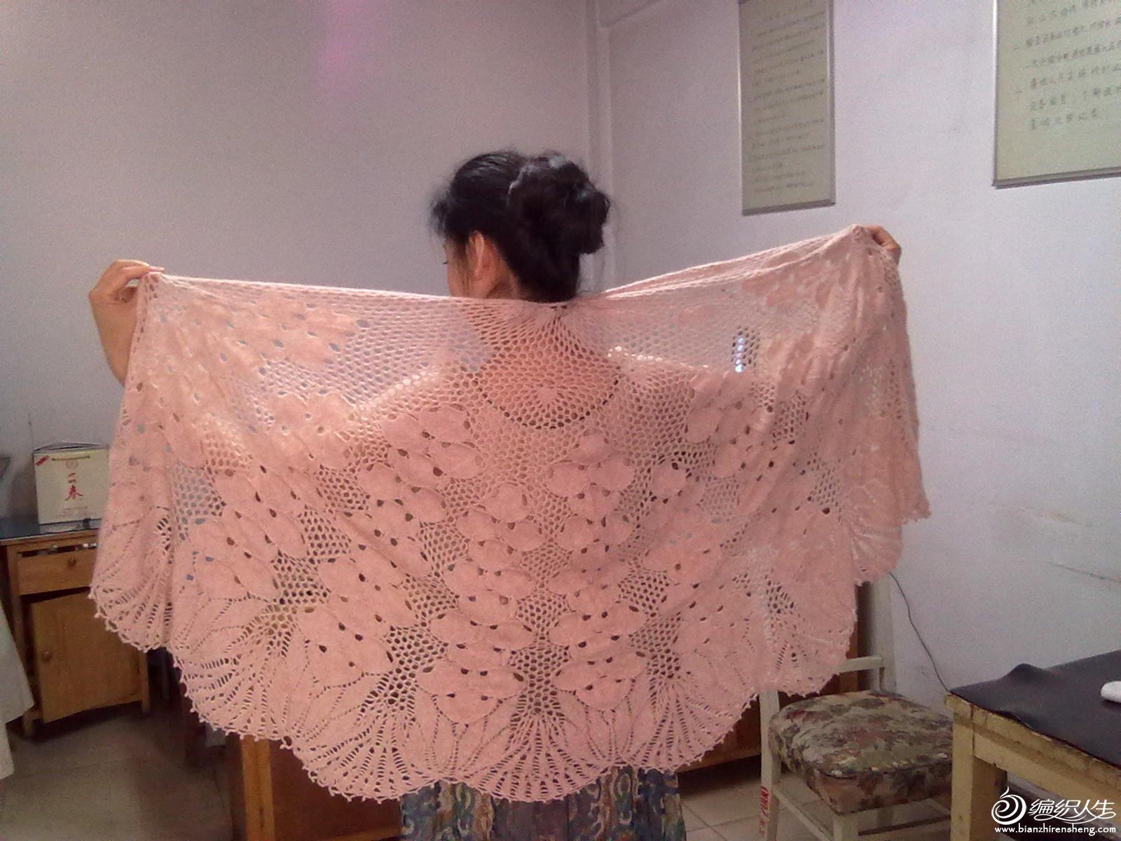 山羊绒线织的4两。朋友的作品
