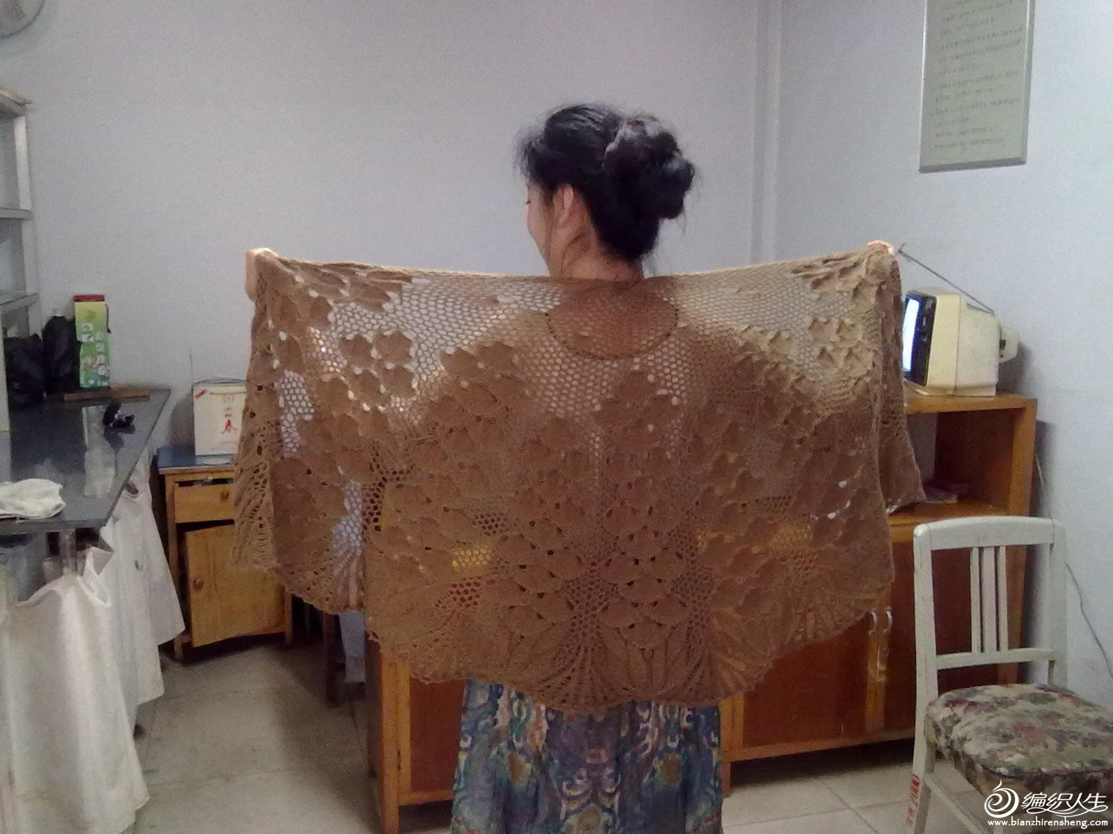 这是我的作品,4两羊绒线。