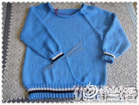 """""""可爱的史努比""""毛线绣儿童毛衣"""