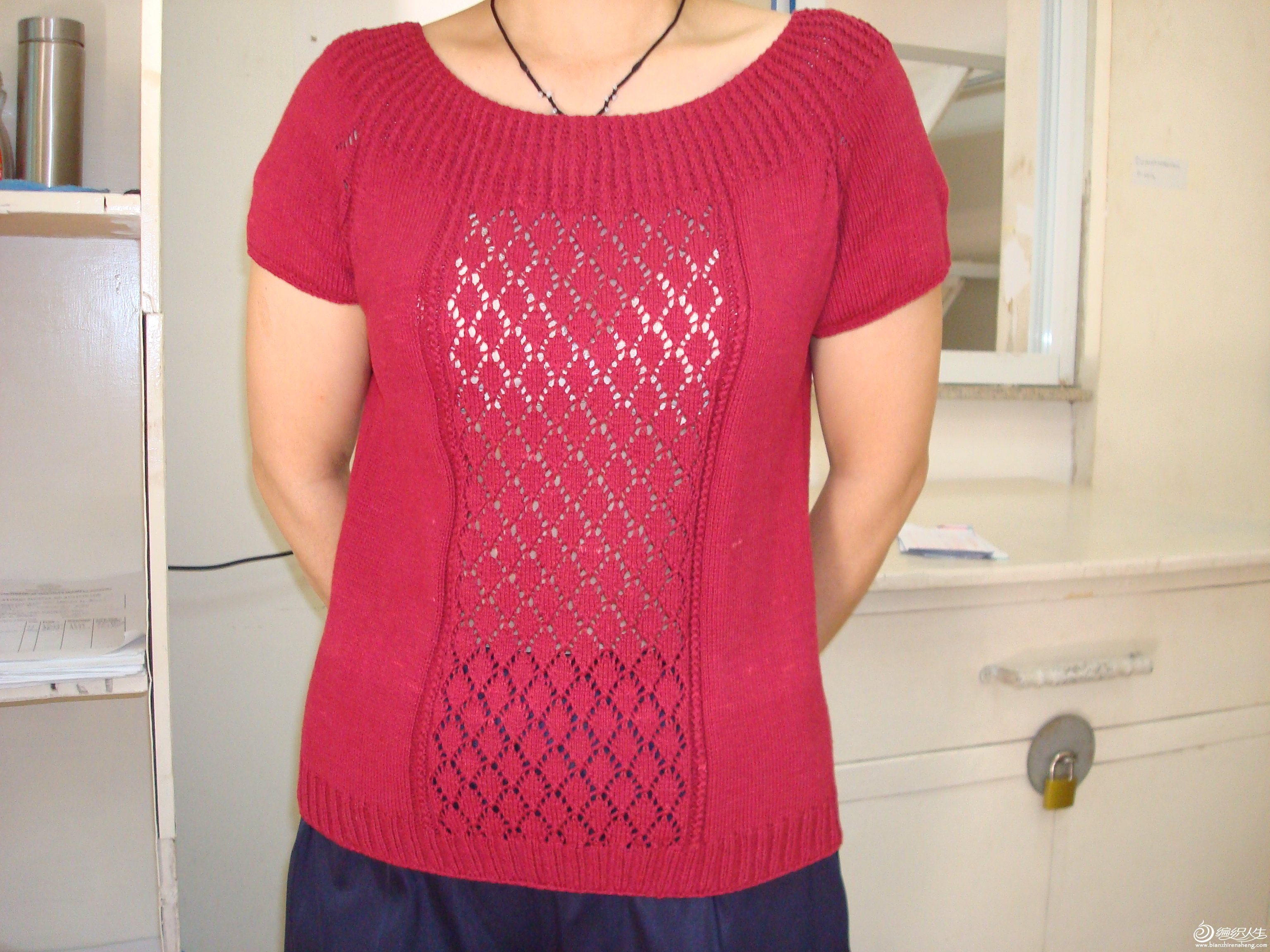 棉线手编T恤