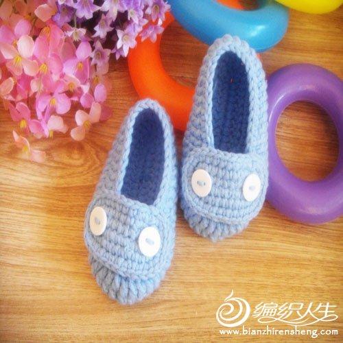 婴儿鞋 蓝色 纽扣3.jpg