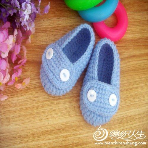 婴儿鞋 蓝色 纽扣a b (2).jpg
