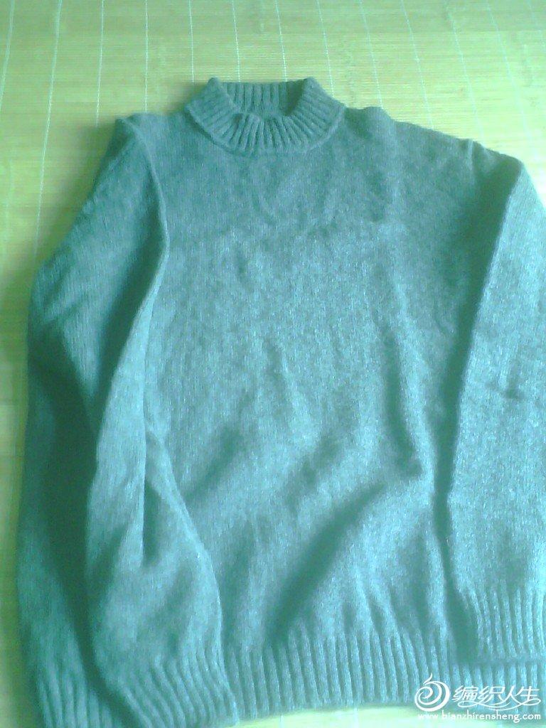 平针圆领毛衣