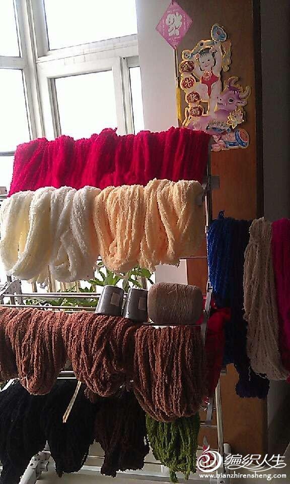 浪漫家的毛巾线,想用来织几条围巾给爸妈和公婆