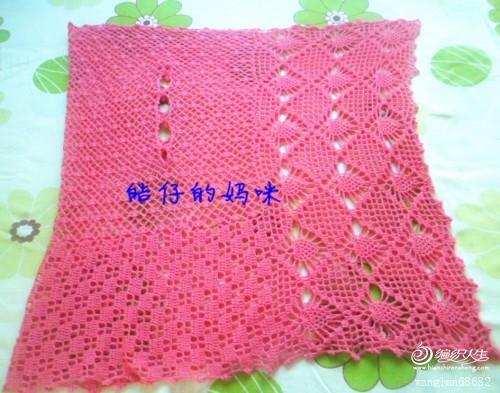 一片式披肩--菠萝花开(带高清图解)新加了简单的编织说明