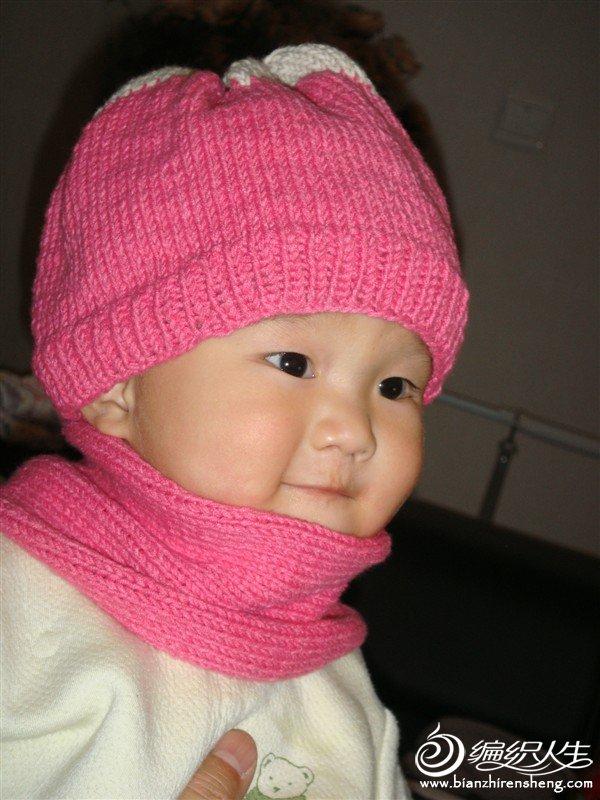 红色的帽子围巾