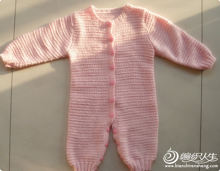 毛线编织连体服,睡袋两用宝宝衣