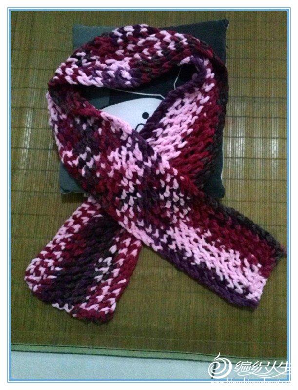 这是织给自己的,织的是情人网花也很简单