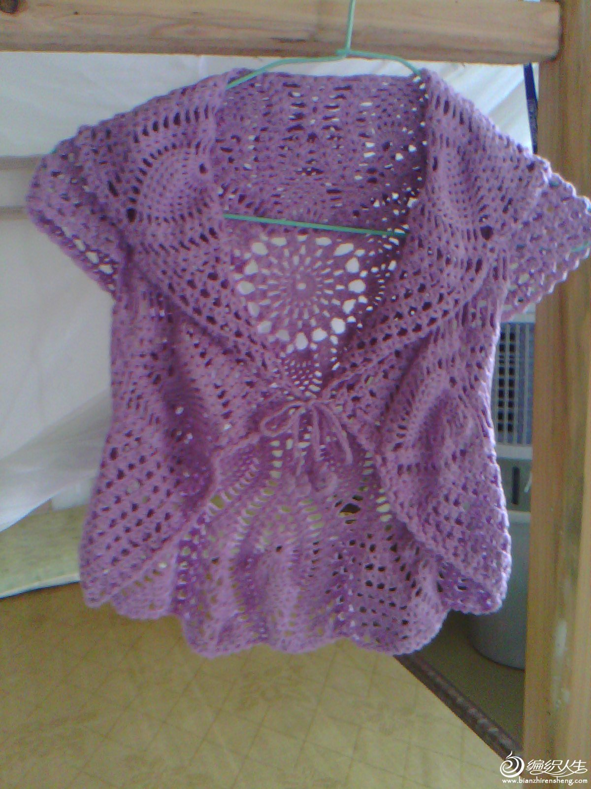 也钩桌布衣——紫菠萝 海量图解