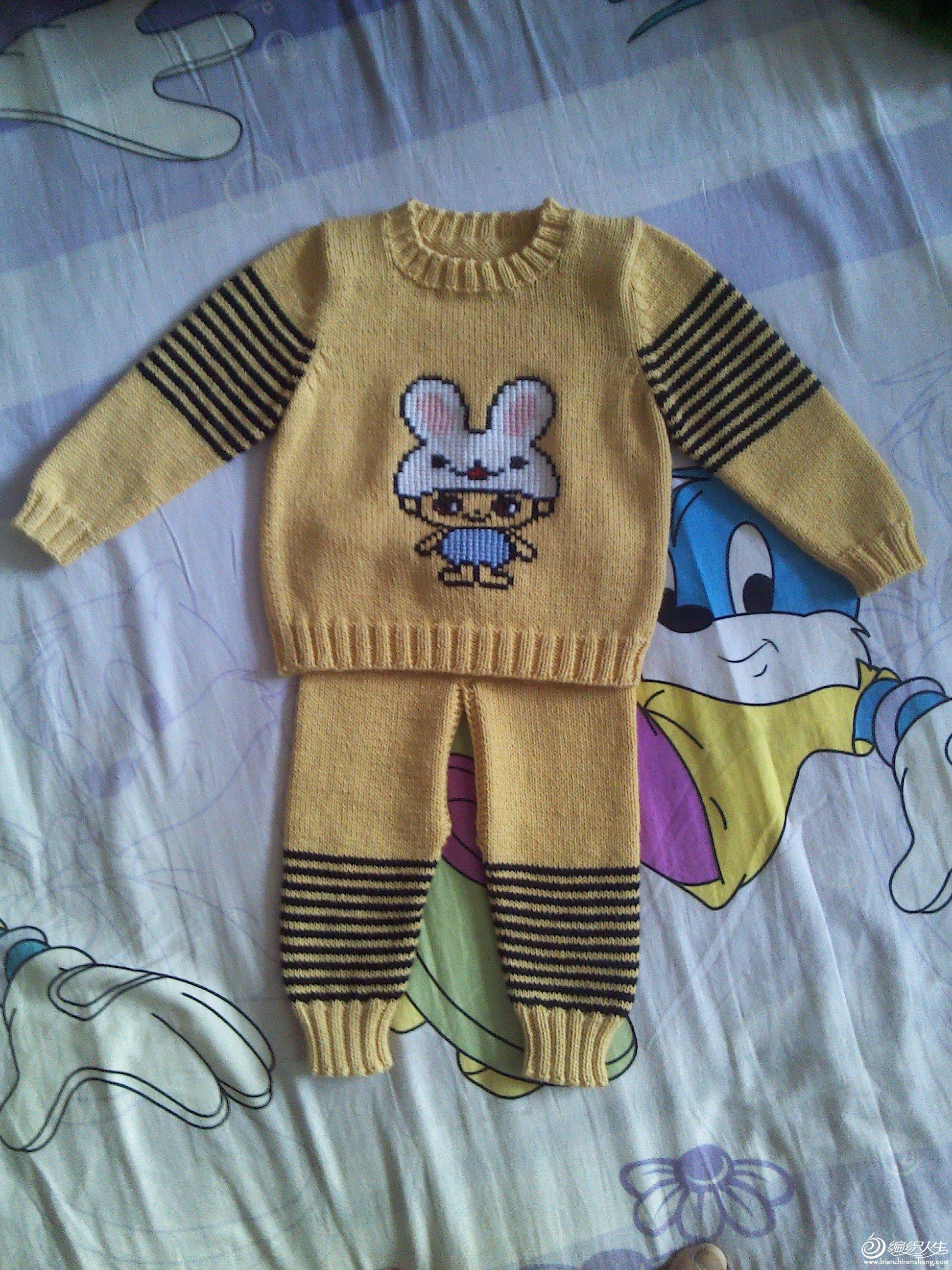 信息中心 可爱的宝宝编织服饰(图解)   宝宝衣服编织图案快乐编制论坛
