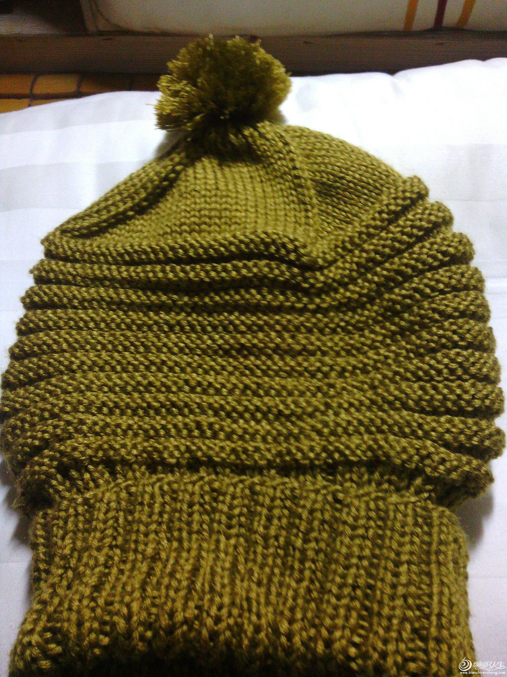 帽子是织给儿子的