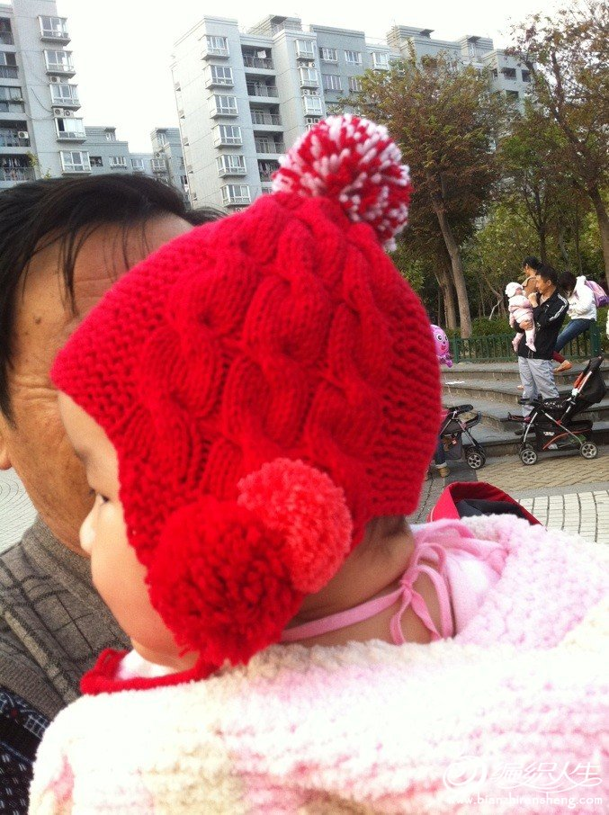 帽子送给朋友女儿了