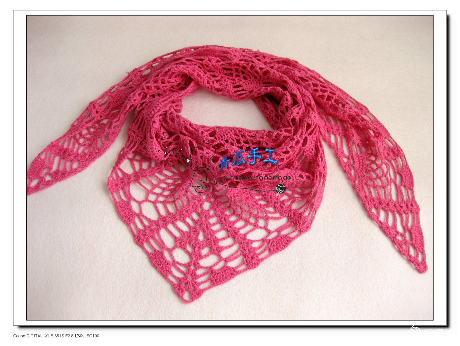 初学织围巾细线的步骤图片